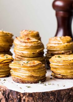 Crispy Parmesan Potato Stacks Recipe | SimplyRecipes.com