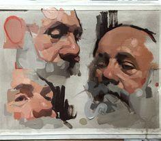 WEBSTA @ feliciaforte - demo for my Alla Prima Portrait Painting Workshop… Portrait Sketches, Art Drawings Sketches, Portrait Art, Art Sketches, Portraits, Painting Workshop, Guache, Art Tutorials, Painting Inspiration