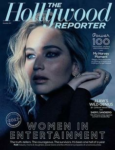 Jennifer on the cover of The Hollywood Reporter, Women in entertaiment. December 2017