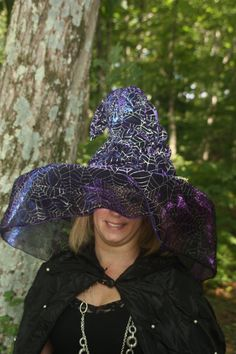 Hey, I found this really awesome Etsy listing at https://www.etsy.com/listing/200207750/witch-hat-covered-iridescent-fabric