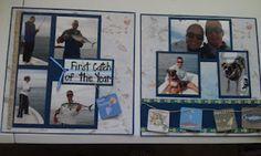 Fishing scrapbook spread