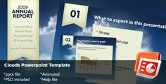 Clouds Powerpoint Template  #blue #slides #modern • Click here to download ! http://graphicriver.net/item/clouds-powerpoint-template/72665?s_rank=937&ref=pxcr