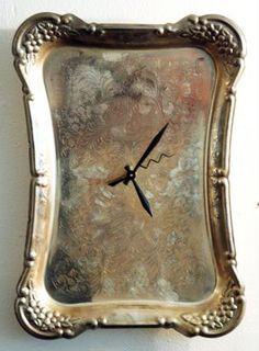 silver platter clock