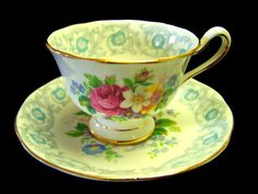 Royal Albert Fragrance Demitasse cups and Saucers by Cupsofthepast, $15.00