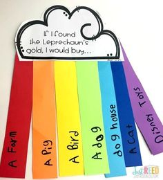 Fun rainbow craft FREEBIE for St. Patrick's Day