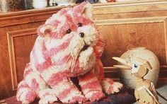 Bagpuss, the saggy old cloth cat.