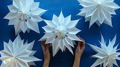 Jak zrobić trójwymiarową śnieżynkę z papieru / How to make a 3D Paper Snowflake - YouTube
