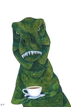 Dinosaur Art, Cute Dinosaur, Dinosaur Birthday, Watercolor Paintings, Original Paintings, Dinosaur Wallpaper, Funny Birthday Cards, Birthday Message, Gifts For Your Boyfriend