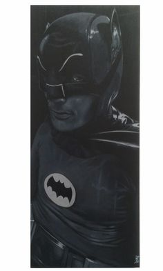 Batman '66. Acrylic on wood panel -John Perry