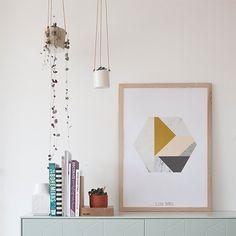POSTER - Marble Hexagon