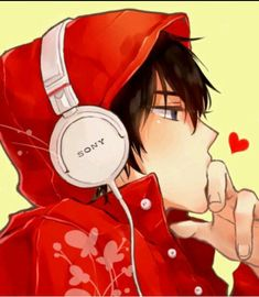 guy with his sony headset and red hoodie --I figured out who he is at last. of Tonari no Kaibutsu-kun (My Little Monster)that guy with his sony headset and red hoodie --I figured out who he is at last. of Tonari no Kaibutsu-kun (My Little Monster) Manga Anime, Manga Boy, Anime Art, Art Manga, Hot Anime Boy, Cute Anime Guys, Anime Boys, I Love Anime, My Little Monster
