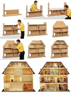 Bildvergrößerung per Mausklick aktivieren Diy Doll House, Doll Houses, Doll House Plans, Barbie Doll House, Barbie Dolls, Little Houses, Kids Toys, Dollhouse Design, Dollhouse Miniatures