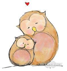 baby owl illustration - Buscar con Google