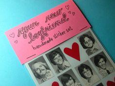 your new boyfriend handmade sticker set by Nowvember on Etsy, $10.00