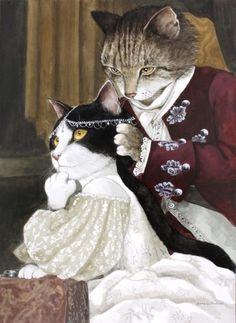 Adriana Lecouvreur (Arturo Colautti) by Susan Herbert from Opera Cats I Love Cats, Crazy Cats, Cute Cats, Animal Gato, Image Chat, Gatos Cats, Cat People, Vintage Cat, Cat Drawing