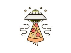 Abduction pizza! by Skang #Design Popular #Dribbble #shots