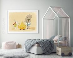 Bunny and elephant poster,Cute nursery ideas,Cute Bunny decor,Baby boy room poster,Childrens bedroom Baby Room Wall Art, Baby Wall Decor, Nursery Wall Art, Bedroom Wall, Nursery Decor, Baby Art, Nursery Ideas, Nursery Themes, Nursery Inspiration