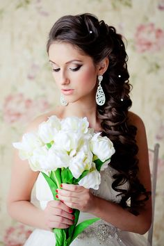 Super wedding hairstyles to the side curls shops ideas Elegant Wedding Hair, Wedding Hair Down, Wedding Hairstyles For Long Hair, Mod Wedding, Wedding Hair And Makeup, Bride Hairstyles, Down Hairstyles, Pretty Hairstyles, Perfect Wedding