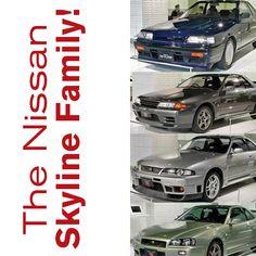Nissan Skyline GT-R Family Tree. #TBT #Skyline #GTR