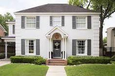 white brick house - Google Search