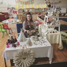 Up North in Sunderland selling my Christmas crafts! (After leaving half my things at home in Loughborough ) . . . #craft #craftmas #christmascraft #sunderland #concord #nursery