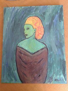 Mujer en verde