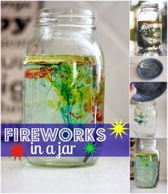 DIY Fireworks in a Jar