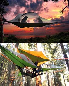 """2,633 Likes, 24 Comments - Yanko Design (@yankodesign) on Instagram: """"Why sleep in a tent when you could sleep in a nest?! Tentsile Tree Tents straps to trees, giving…"""""""