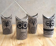 Toilet Paper Owl Crafts | 15 Toilet Paper Roll Crafts For Kids
