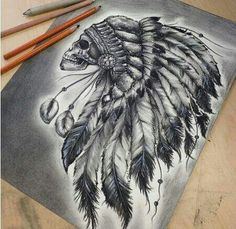 43 Trendy Tattoo Lion Indian Headdress - You are in the right place about 43 Trendy Tattoo Lion Indian Headdress Tattoo Design And Style Gal - Indian Headdress Tattoo, Indian Skull Tattoos, Indian Head Tattoo, Indian Tattoo Design, Native American Tattoos, Native Tattoos, Tattoo Sketches, Tattoo Drawings, Tattoo Ink