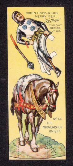 Robin Hood Scarce 1928 Typhoo Tea Paper Doll Card #14 The Impoverished Knight | eBay