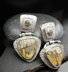 Sand Dunes Fine Silver Picasso Jasper and by designsbysuzyn