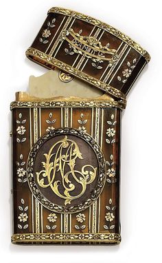 A GERMAN GOLD-MOUNTED TORTOISESHELL CARNET-DE-BAL circa 1875.  - by Christie's