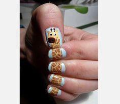 Giraffe on nails #nailart