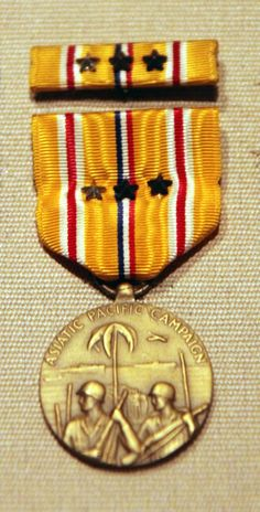 Asiatic - Pacific Campaign Medal   This medal was awarded to any member of the US military to serve in the Pacific Theater from 1941 to 1945...