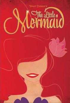 The Little Mermaid Minimalist Poster by ~AFineFrenzy on @deviantART