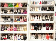I wish I had this for my shoes! I wish I had all these shoes too!