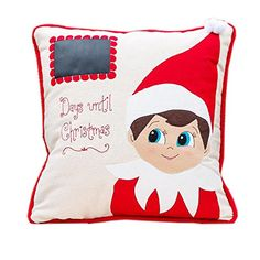 Glory Haus Elf Days Til Christmas Pillow, 13 x 12-Inch