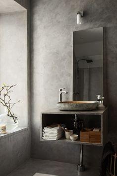 Inspiration badrum, i betong.