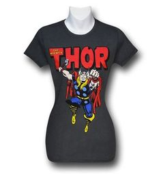 Images of Thor Hammer Punch Women's Grey T-Shirt