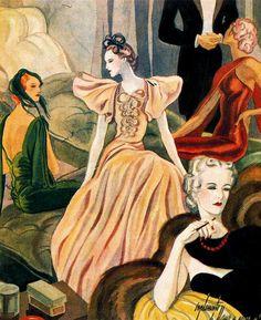 Fashion Illustration, 1935 - Carlos Saenz de Tejada (Spanish, 1897-1958)
