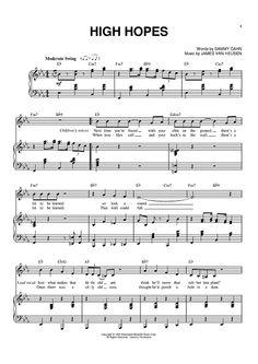 "1959 Academy Award Winning Song of the Year - ""A Hole in the Head"" Music: James Van Heusen_Lyrics: Sammny Cahn"