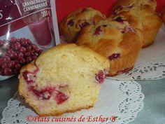 Les plats cuisinés de Esther B: Muffins à l'orange et aux canneberges