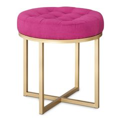 Threshold™ Button Tufted Ottoman - Pink : Target