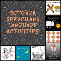 October Speech and Language Activities