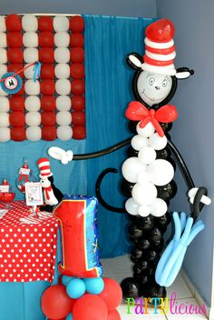 "Photo 3 of 29: Dr. Seuss / Birthday ""{Cat in the Hat Birthday}"" 