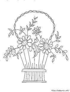 Gallery.ru / Фото #14 - Цветы в корзине для вышивки - Vladikana...A free collection of 57 embroidery basket designs!