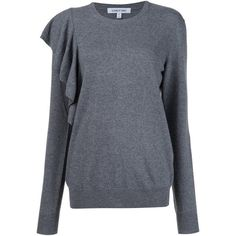 Elizabeth And James Orly Sweater (580 CAD) ❤ liked on Polyvore featuring tops, sweaters, grey, grey sweater, elizabeth and james top, elizabeth and james, elizabeth and james sweater and grey top