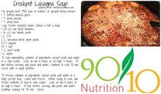 Crockpot Lasagna Soup  #freezermeals #healthyfreezermeals #9010nutrition