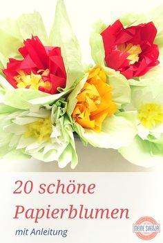Blumen basteln 20 schöne Papierblumen mit Anleitung www.meinesvenja.de